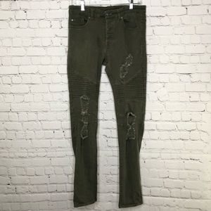 Divided H&M Moto Distressed Skinny Jeans 30/32